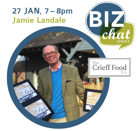 Don't miss Can Do Crieff's Biz Chat with local business owner Jamie Landale